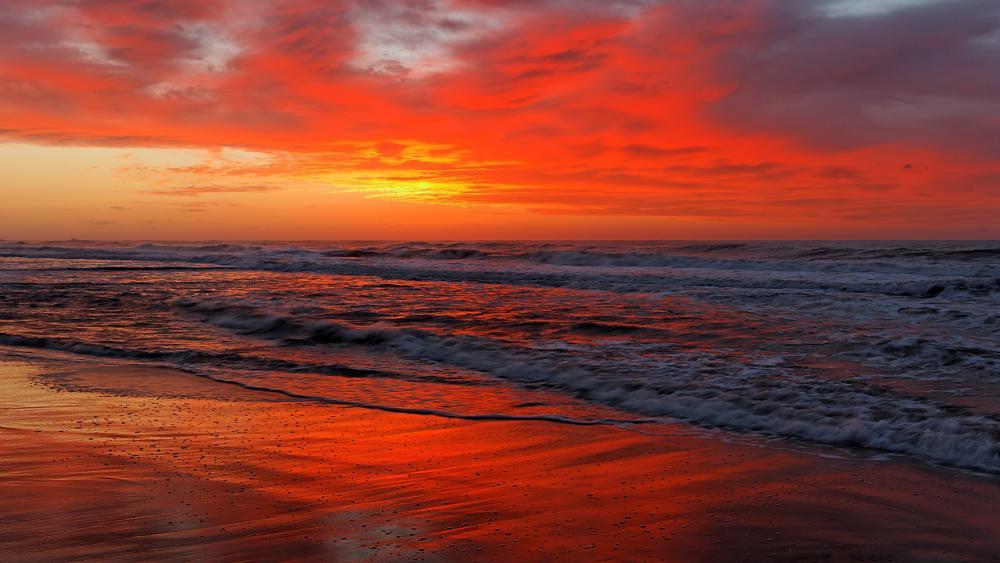 Burning sunset wallpaper