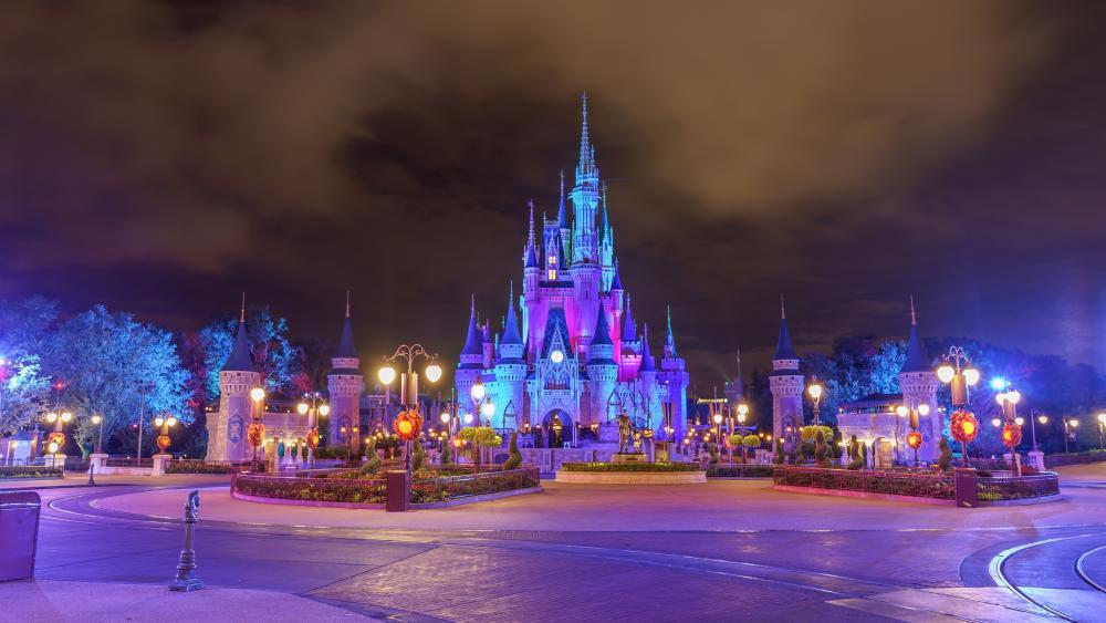 Disneyland after dark wallpaper