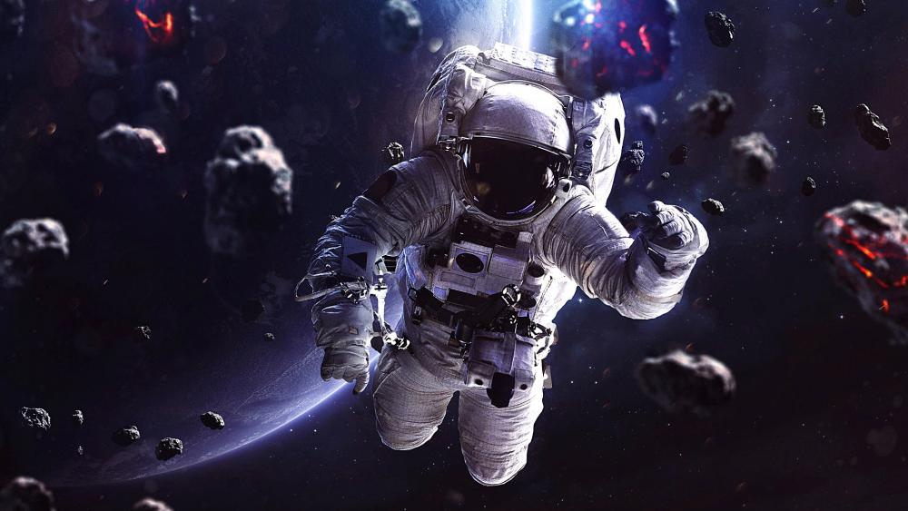 Astronaut in space wallpaper