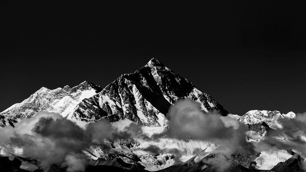 Mount Everest  - Monochrome Photography wallpaper
