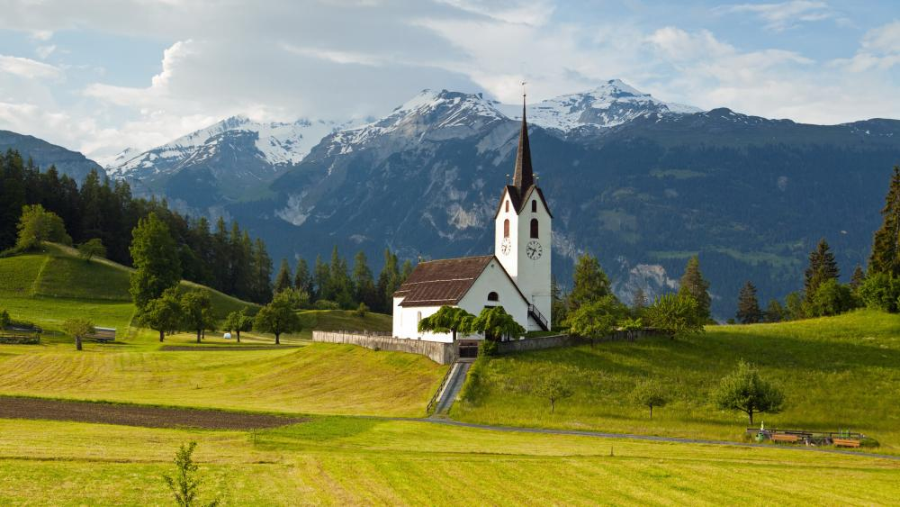 Versam Church (Switzerland) wallpaper