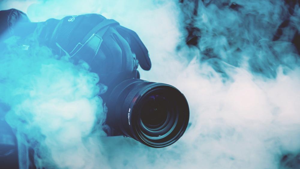 Smoke photo effect wallpaper