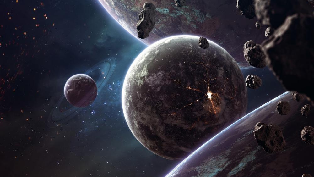 Asteroids wallpaper