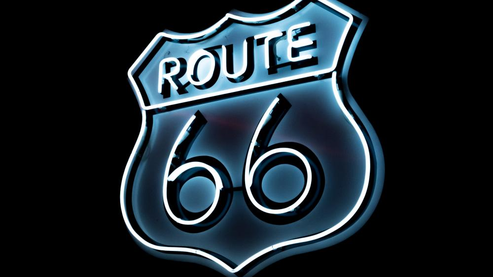 Route 66 neon sign wallpaper