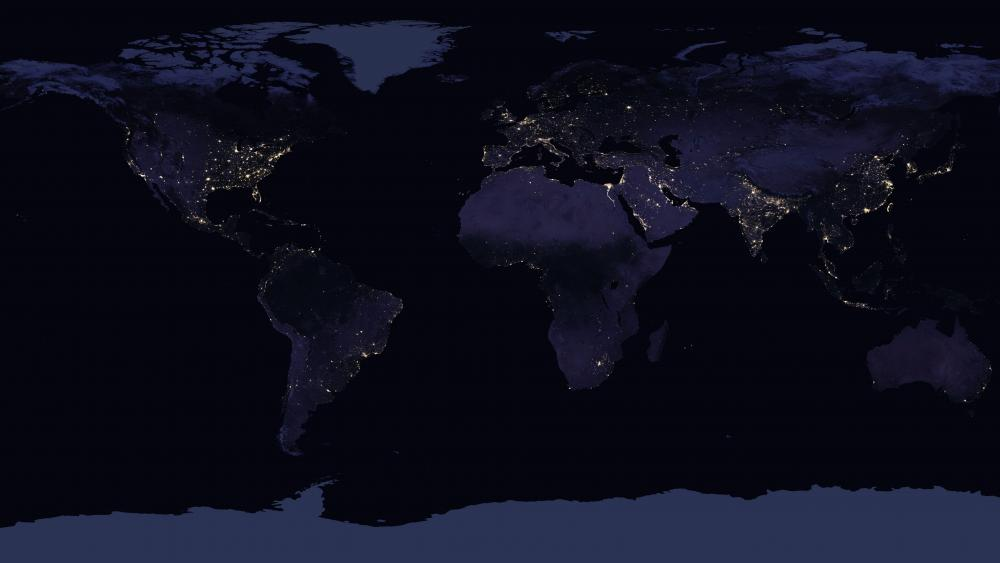 Earth's Night Lights wallpaper