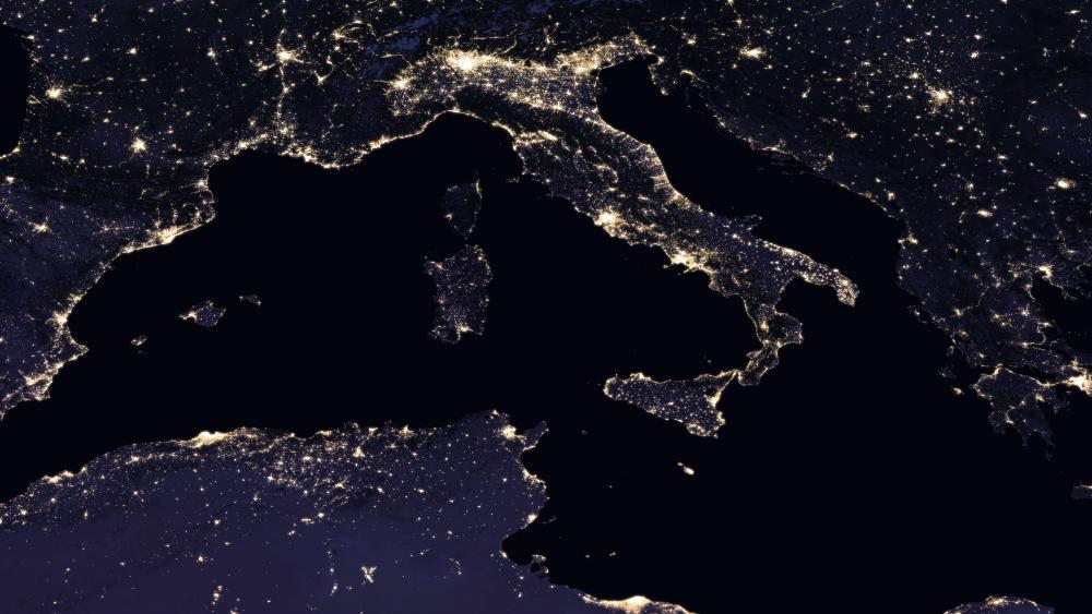 Italy Night Lights wallpaper