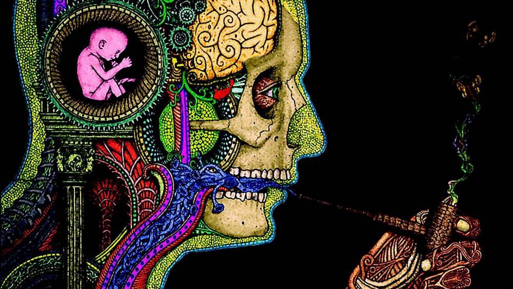Psychodelic wallpaper