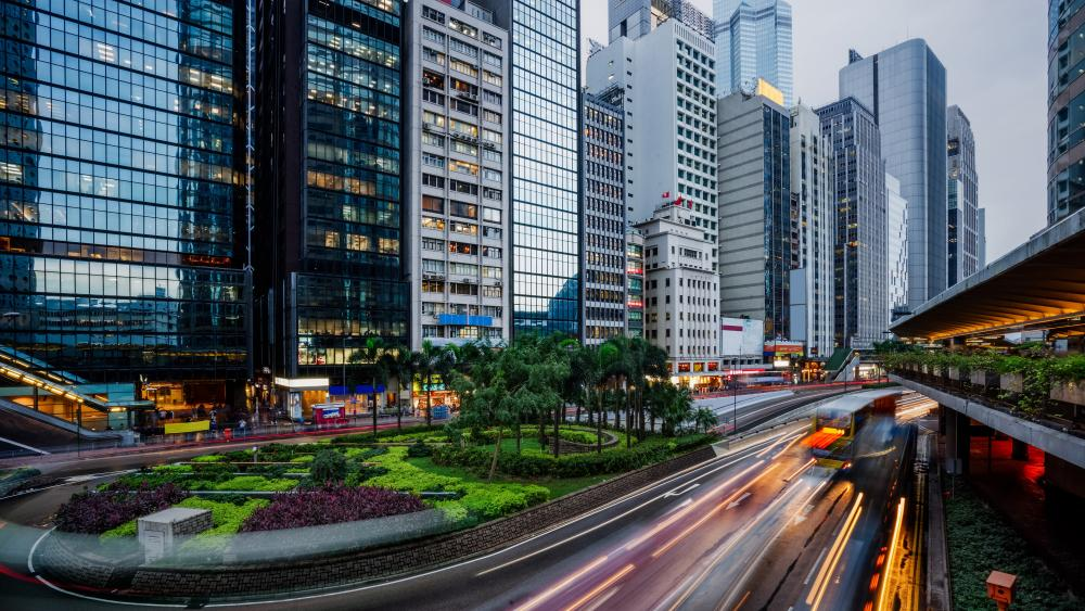 Hong Kong traffic wallpaper