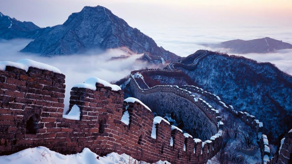 Snowy Great Wall wallpaper