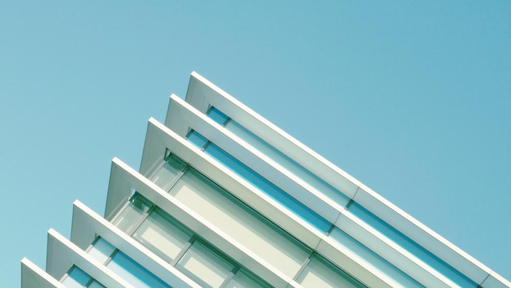 Edge of a building wallpaper