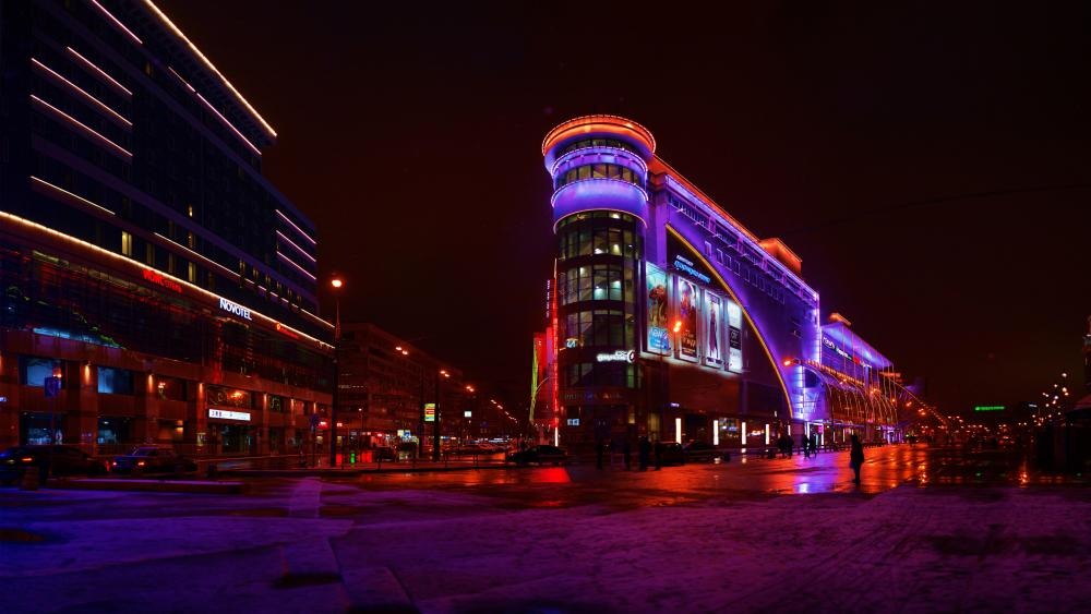 European (shopping center) In Moscow wallpaper