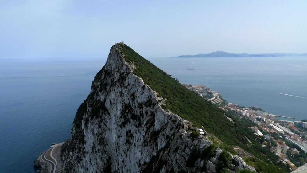 Africa from Gibraltar wallpaper