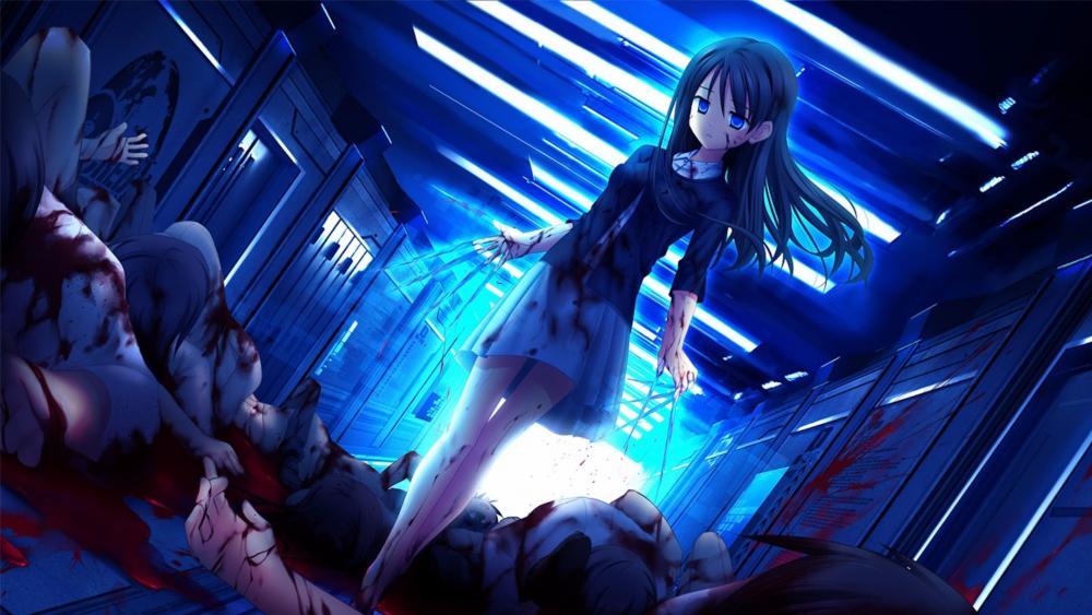 Bloody anime art wallpaper