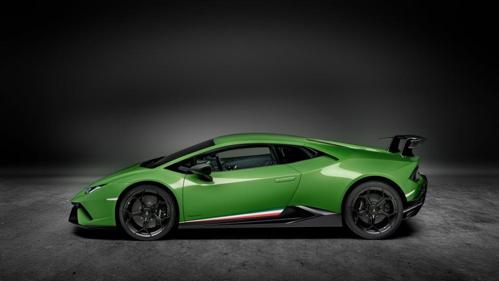 Lamborghini Huracan Performante side view wallpaper