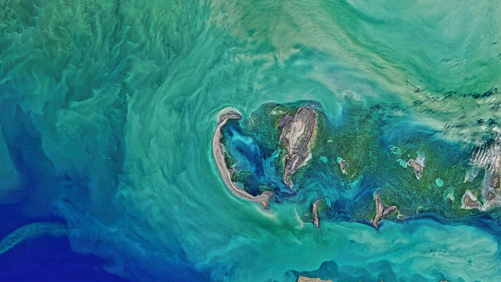 Satellite images of the ocean wallpaper