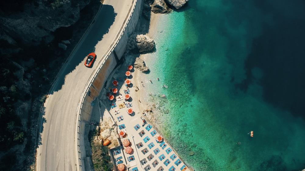 Albanian Riviera beach wallpaper