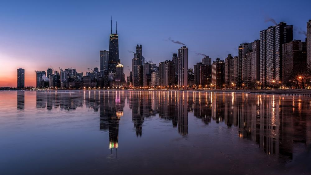 Chicago reflection wallpaper