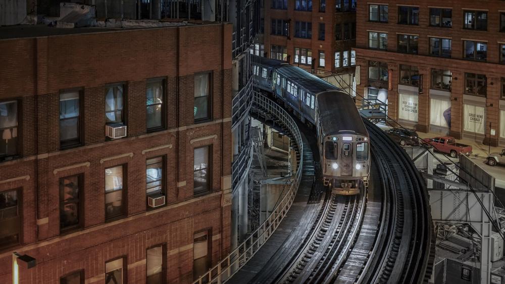 Chicago rail transport wallpaper