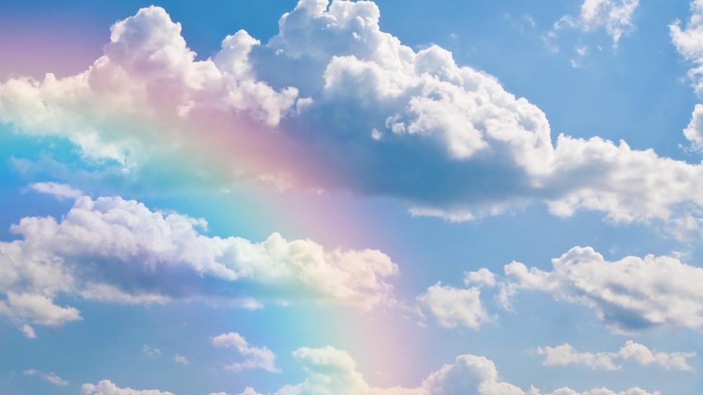 Rainbow in the skies wallpaper