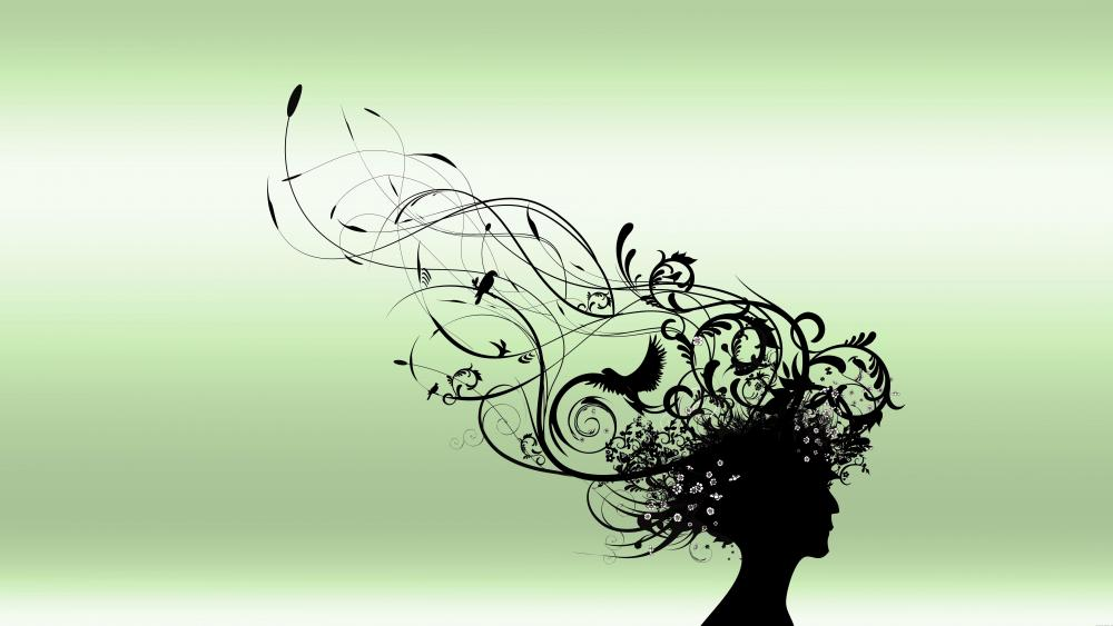 Hairstyle - Abstract art wallpaper