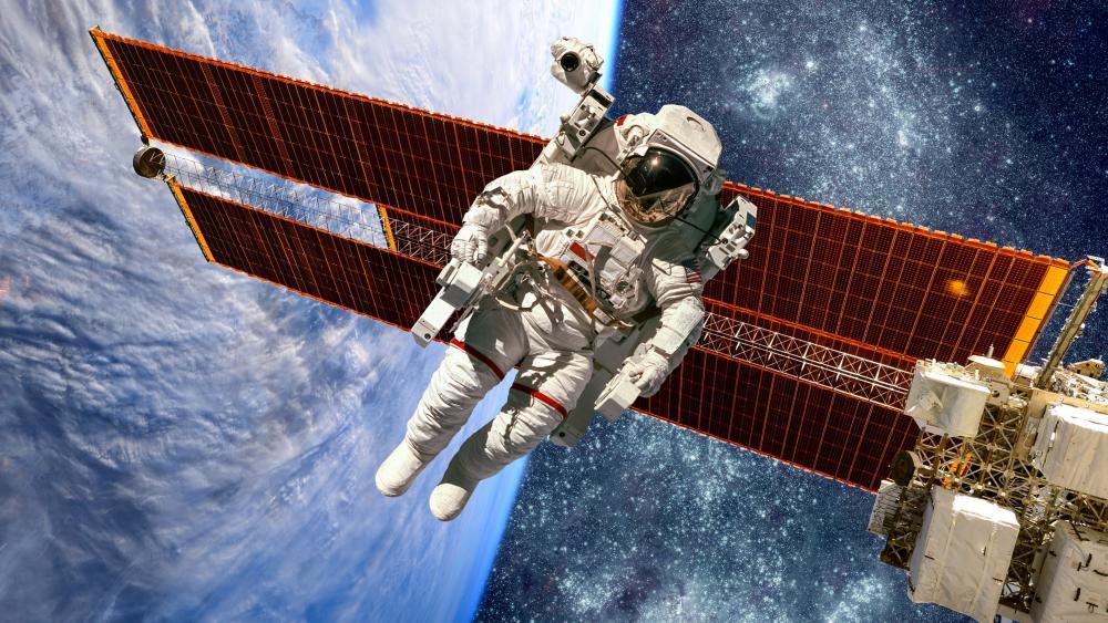 Spacewalk wallpaper