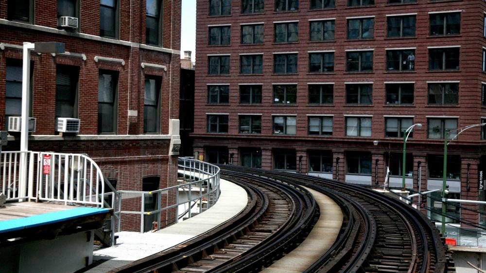 Chicago L Train Tracks wallpaper