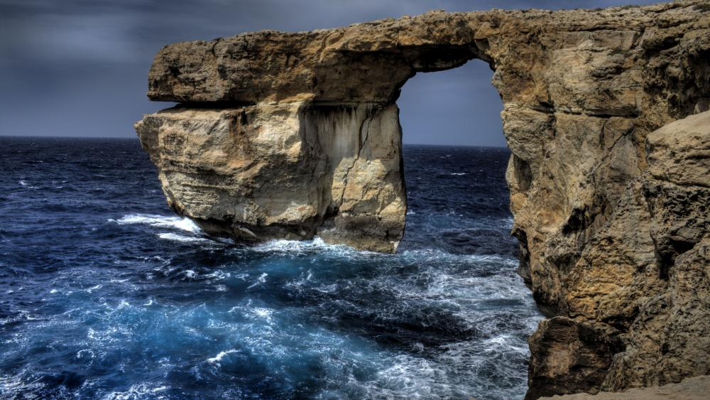 Azure Window, Malta wallpaper