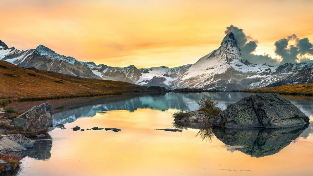 Matterhorn from Riffelsee (Zermatt) wallpaper