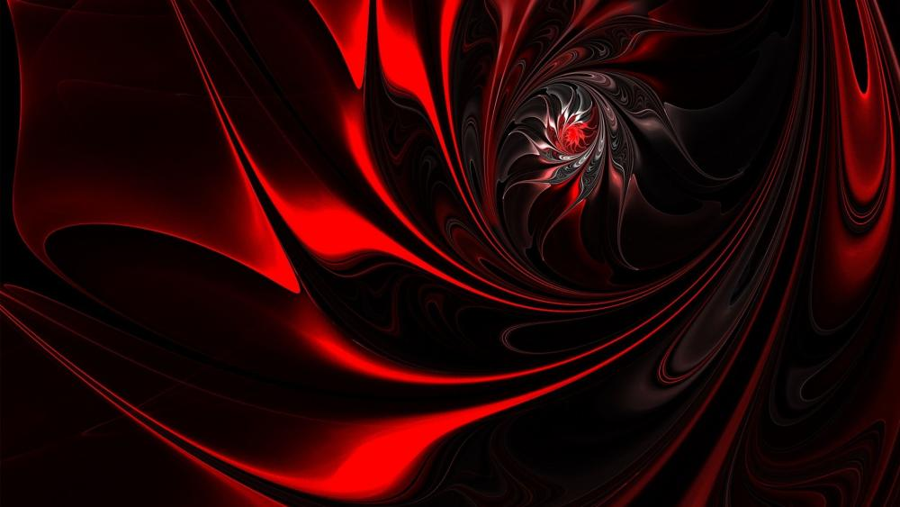 Ripples in red wallpaper