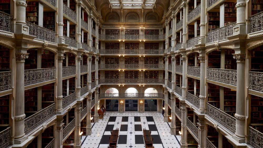 George Peabody Library wallpaper