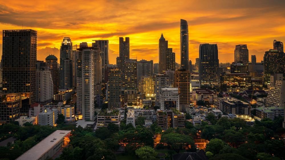 Bangkok skyline wallpaper