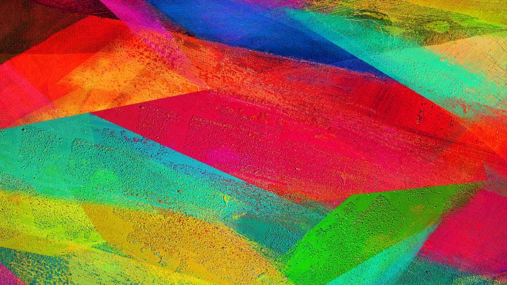 Colorful modern art wallpaper
