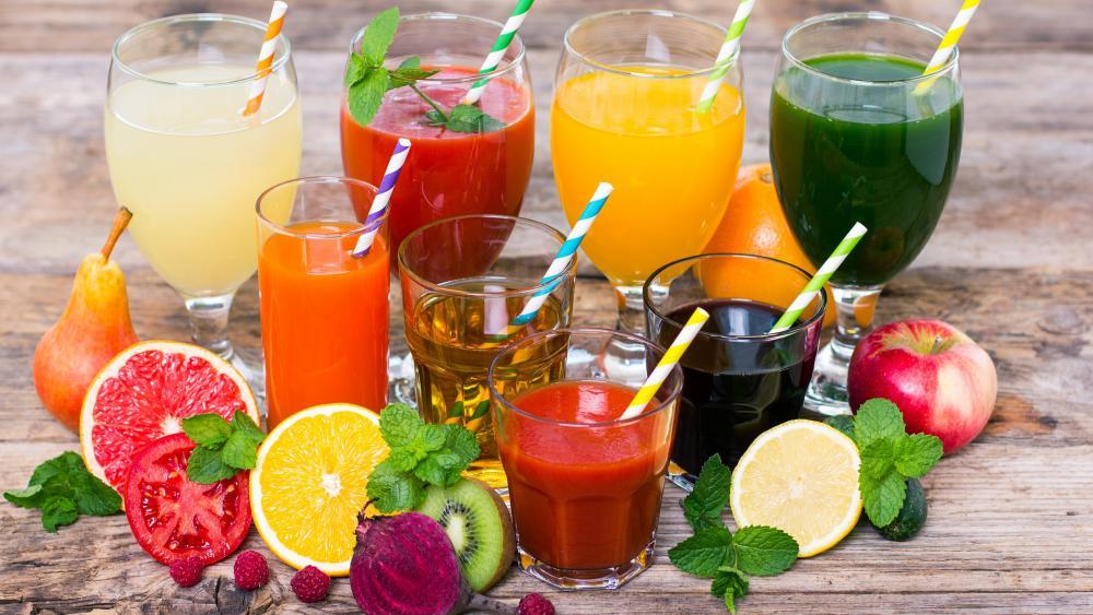 Fresh juices wallpaper