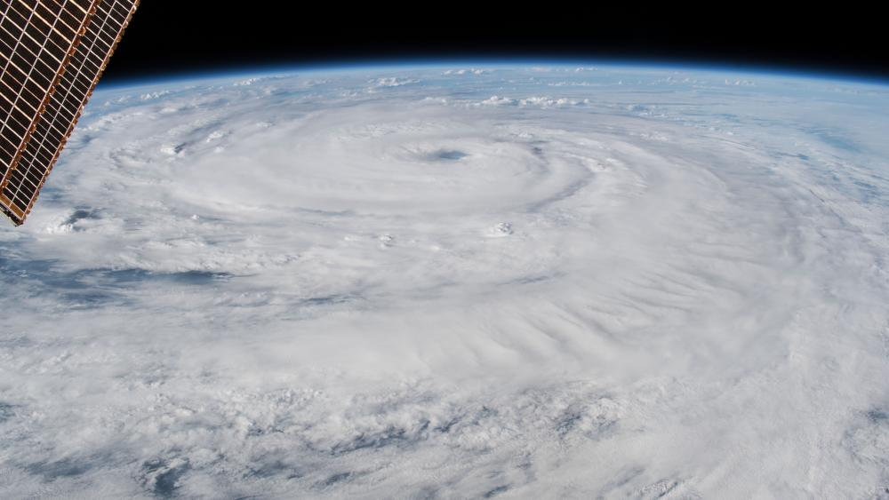 View of Hurricane Florence from Space wallpaper