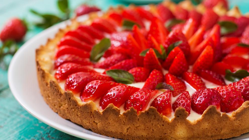 Strawberry pie wallpaper