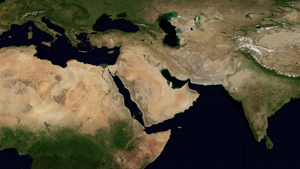 Blue Marble Next Generation (Middle East) wallpaper