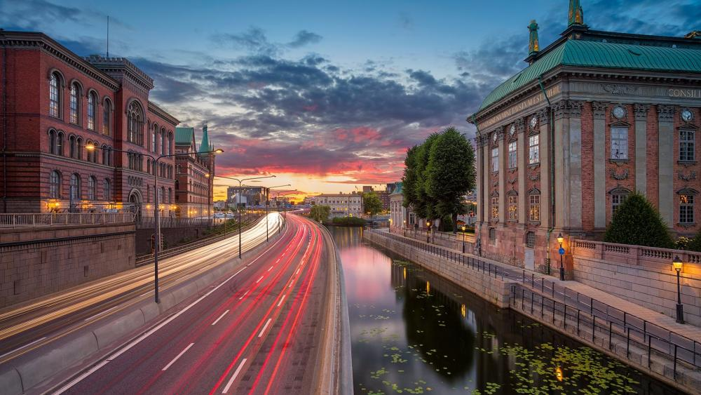 Stockholm - Long Exposure Photography wallpaper