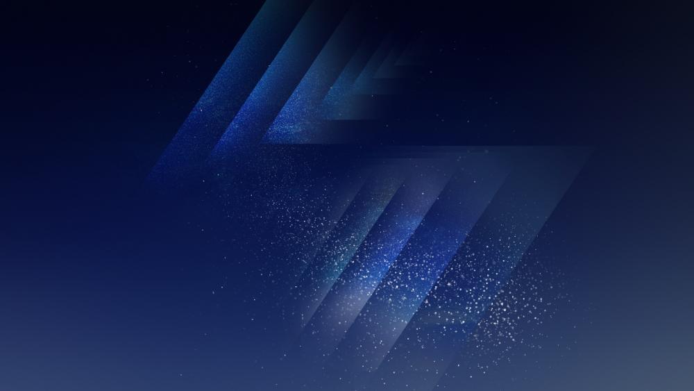 Blue gleam wallpaper