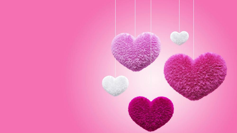 Pink hearts 💕 wallpaper