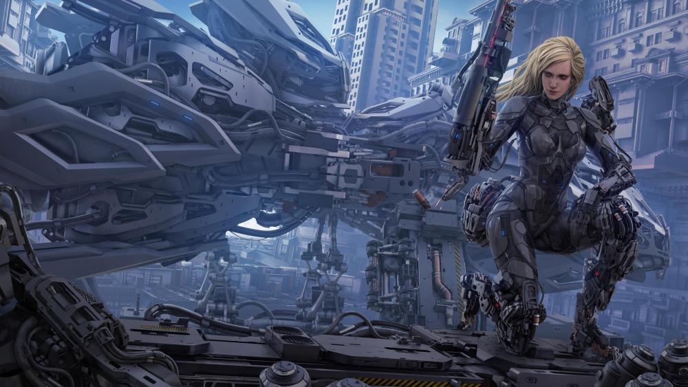 Cyborg art wallpaper