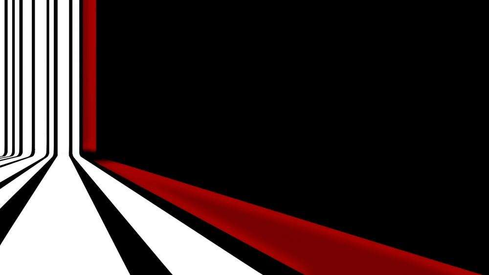 Red and white striped black background wallpaper