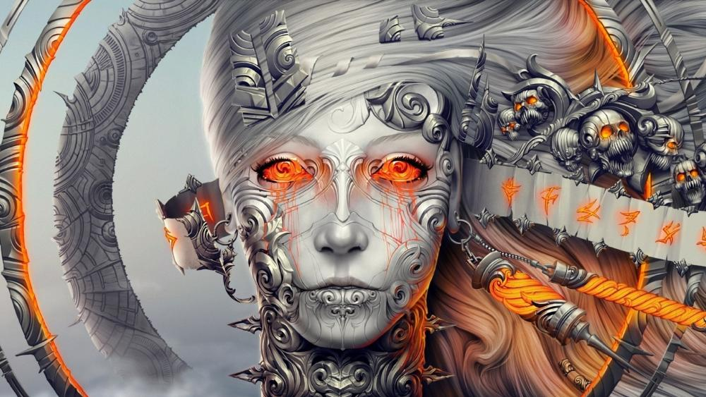 Supernatural alien woman face wallpaper