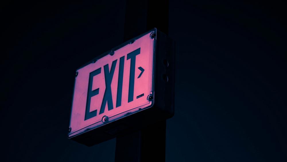 Exit neon sign wallpaper