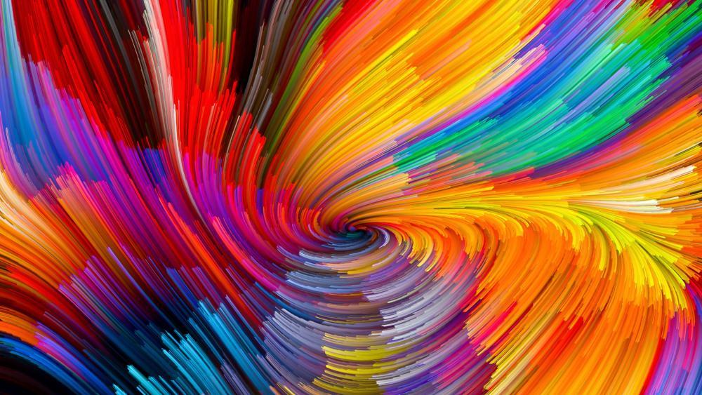 Multicolor whirlpool wallpaper