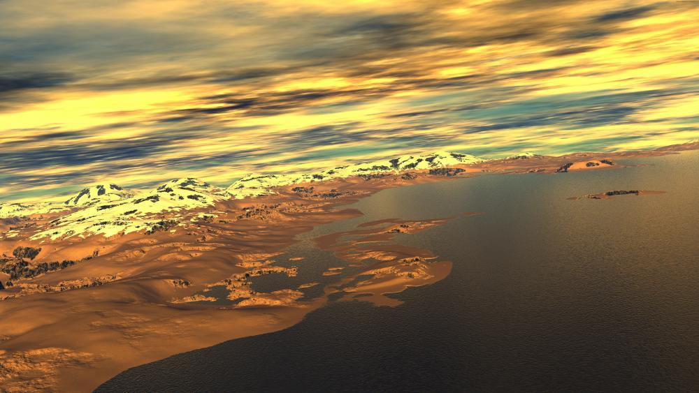 Digital landscape wallpaper