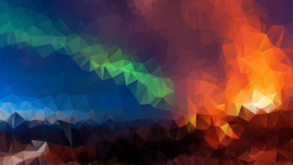 Colorful low-poly art wallpaper