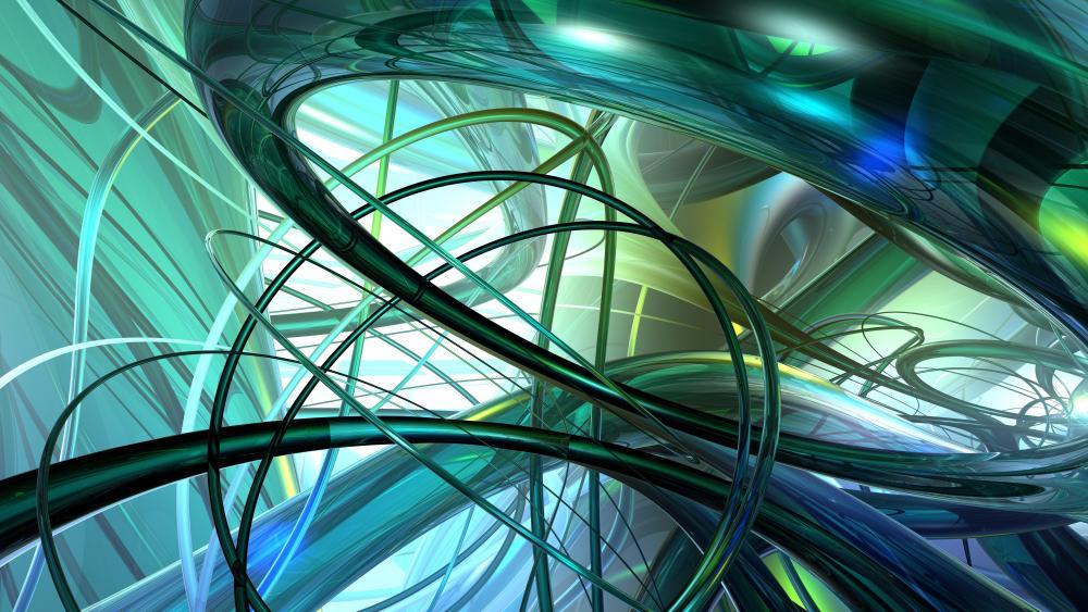 3D greet tubes wallpaper