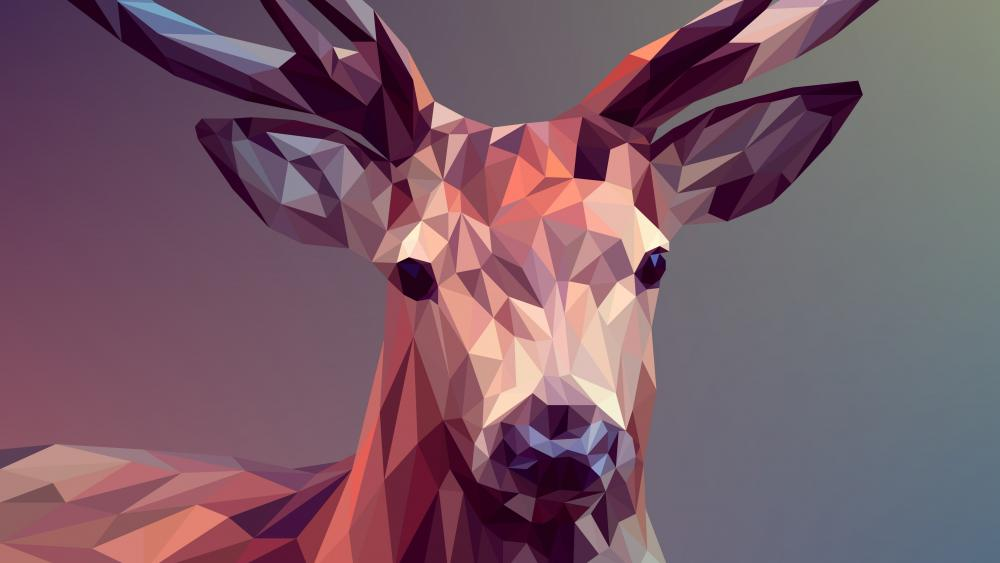 Deer - Polygon Art wallpaper
