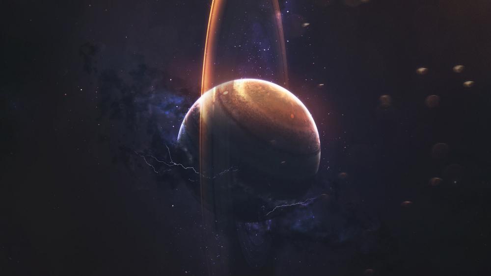 Scifi planet wallpaper