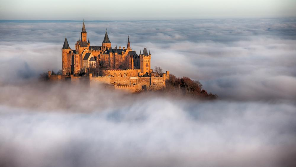 Hohenzollern Castle above the clouds wallpaper